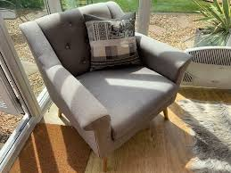 100 Contemporary Armchair Armchair In Grey Fabric In Coxhoe County Durham Gumtree