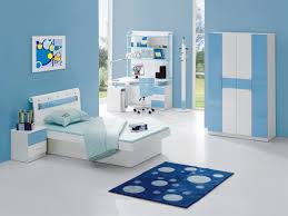 Kids Room Light Blue Color Scheme Wall Paint Ideas Bedroom Interior Design For With Chic Bed