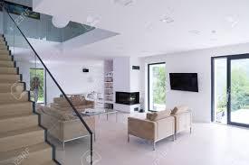 architektur innenausstattung moderne wohnung großes wohnzimmer