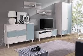wohnwand mina wohnzimmer set lowboard kleiderschrank kommode 2 farben