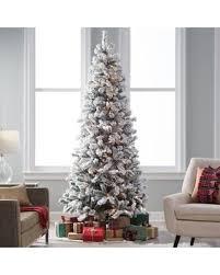 75 Flocked Slim Christmas Tree by 100 Slim Christmas Tree Prelit Slim Christmas Tree Costco