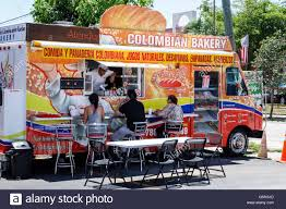 Florida Miami Colombian Bakery Food Truck Hispanic Man Woman Stock ... The Images Collection Of Is A Peel Based Specializing In Chimneys 13 Reasons You Want Food Truck At Your Next Party Thumbtack Miami Trucks Come To Hollywood Fl Plus Vice Burgers Crystal City Thursday 83117 Archives Fort Collins 8 Essential Eater Invasion Gardens Youtube Monday Young Circle Arts Park Potato Corner Design Kendall Doral Solution Hip Pops Dessert Word In Town