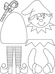 Easy Printable Crafts For Preschoolers Card Template Christmas Shapes