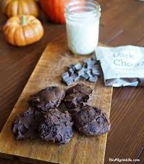 Healthy Chocolate Pumpkin Desserts by Naturally Sweetened Double Dark Chocolate Pumpkin Cookies This