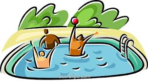 People In A Swimming Pool Royalty Free Vector Clip Art Illustration