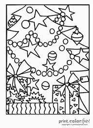 Christmas Tree Coloring Page Print by Christmas Cards To Print And Color Christmas Tree With