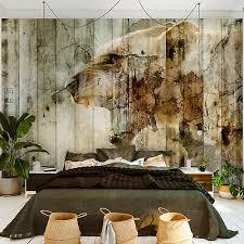 vlies fototapete tapeten wanddeko schlafzimmer wohnzimmer optik holz tiere