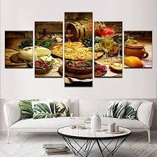 hbkj bild wandbild bilder wohnzimmer 5 stücke restaurant