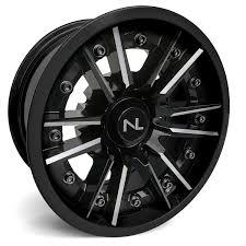 100 14 Inch Truck Tires No Limit Storm 2 Piece ATV UTV Wheels Glossy Black