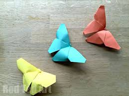 Easy Craft Work For Preschoolers Origami Butterflies How To Paper Children Learn And Get Into Kid