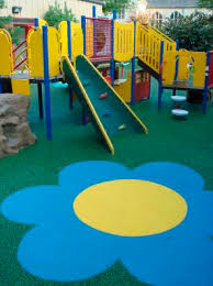 Rubber Flooring For Playgrounds Textured Concrete Look