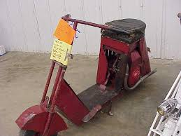 A Very Early 1937 1938 Cushman Scooter It Is Usually Referred To As The Milk Stool This Most Likely Either Model 1 Or 2