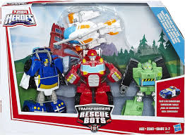 100 Rescue Bots Fire Truck Transformers Playskool Heroes Griffin Rock Team Action Figure 4Pack Boulder Blades Heatwave Chase