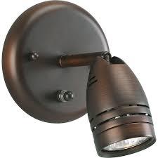 shop progress lighting directional 7 5 in w 1 light bronze