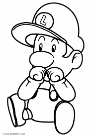 Baby Luigi Coloring Pages
