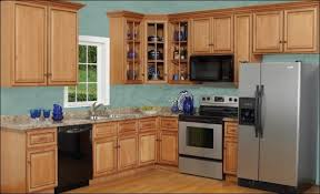 attractive light oak kitchen cabinets wall color with