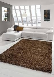 shaggy teppich hochflor langflor teppich wohnzimmer teppich gemustert in uni design braun größe 67 cm rund