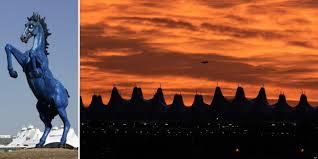 Denver International Airport Murals Horse by Horse Statue Denver Airport All The Pretty Horses