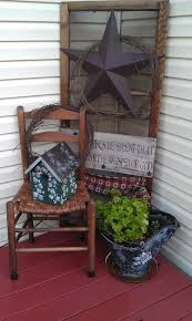 Primitive Decorating Ideas For Outside by New Idea For Star Sitting In Garage Simply Primitive Pinterest