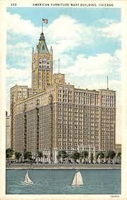 POSTCARD – CHICAGO – THE AMERICAN FURNITURE MART – 666 LAKE SHORE