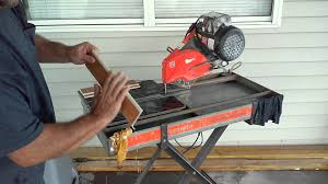 Ridgid Tile Saw Blade by How To Use Tile Bullnose Blade On Wet Saw Youtube