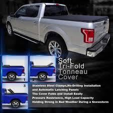 TURBOSII Soft Tri-fold Truck Bed Tonneau Cover 6.5ft Bed Cover - For ... Trifold Tonneau Vinyl Soft Bed Cover By Rough Country Youtube Lock For 19832011 Ford Ranger 6 Ft Isuzu Dmax Folding Load Cheap S10 Truck Find Deals On Line At Extang 72445 42018 Gmc Sierra 1500 With 5 9 Covers Make Your Own 77 I Extang Trifecta 20 2017 Honda Tri Fold For Tundra Double Cab Pickup 62ft Lund Genesis And Elite Tonnos Hinged Encore Prettier Tonnomax Soft Rollup Tonneau 512ft 042014