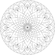 Printable Mandala Abstract Cool Coloring Pages Pdf For