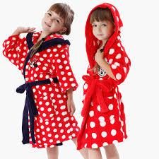 robe de chambre polaire enfant enfant de nuit robe corail polaire peignoir minnie blanc points
