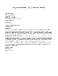 Addressing A Judge In Cover Letter Best