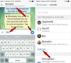 How to send message to multiple contacts in WhatsApp [iOS]
