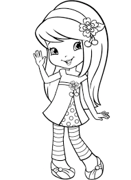 Click To See Printable Version Of Strawberry Shortcake Cherry Jam Coloring Page