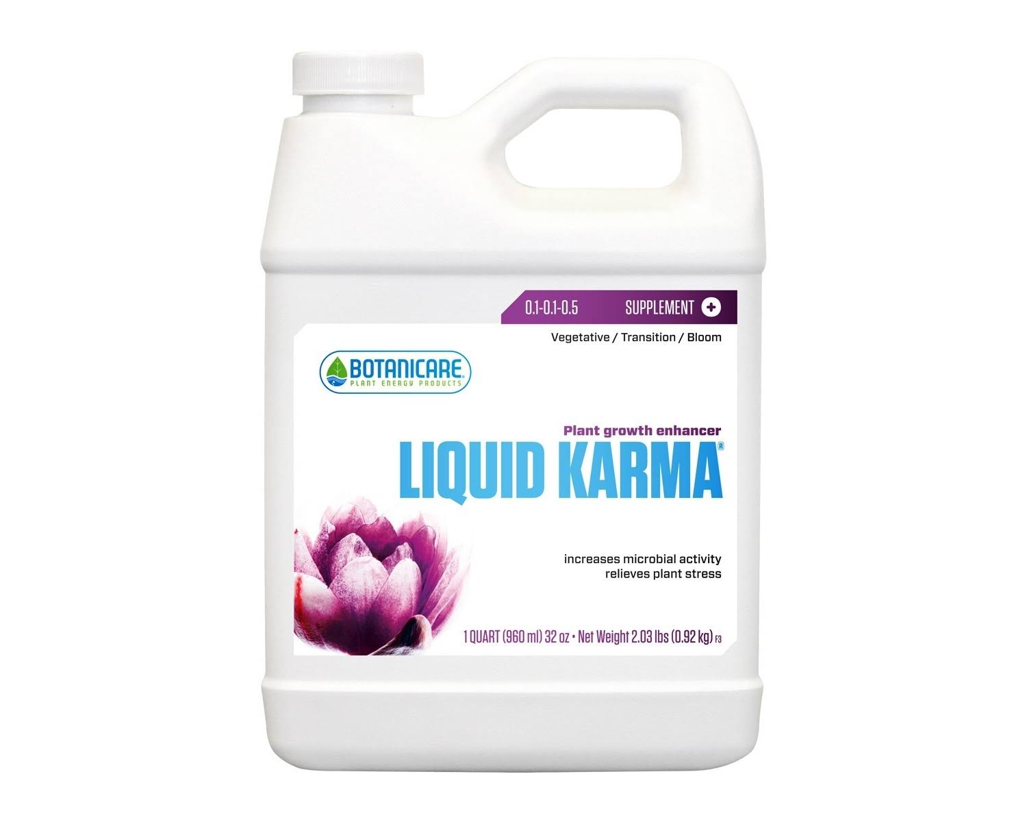 Botanicare Liquid Karma Plant Growth Enhancer Supplement 0.1-0.1-0.5 Formula - 1qt
