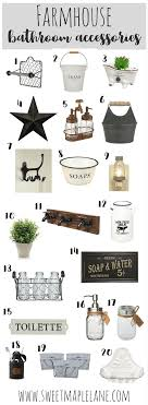 The Ultimate List Of Farmhouse Bathroom Accessories To Add A Touch Rustic Style