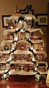 Use An Old Ladder A Few Boards To Make Christmas Villagethese Are The BEST Homemade Decorating Craft Ideas Well Dad Technically Did It