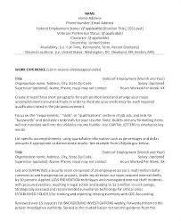 Sample Resume For Federal Government Job U2013 Bezholesterol