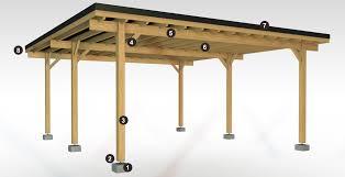 bac a avec toit carport bois et
