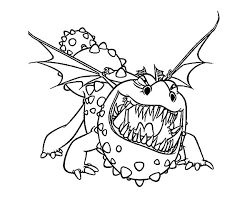 How To Train Your Dragon Coloring Pages Gronckle