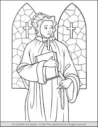 Mary And Elizabeth Coloring Pages Saint Ann Seaton Page The Catholic Kid On