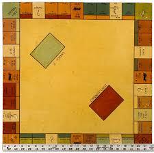 Wood Monopoly Board C1930