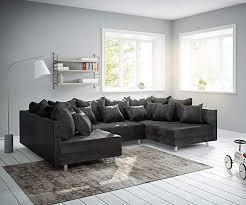 delife clovis modular ecksofa sofa wohnlandschaft