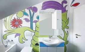 wandmalerei im badezimmer mit ai do malerei airbrush winkler
