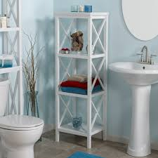 Bathroom Linen Tower Espresso by Amazon Com Riverridge Home X Frame Bathroom Towel Tower White
