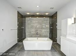 Modern Master Bathrooms 2015 by Contemporary Master Bathroom With Wall Sconce U0026 Master Bathroom In