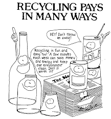Recycling Can Coloring Page Art Clip Recycle Symbol