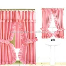 Pink And Purple Ruffle Curtains by Double Shower Curtains With Valance Ruffled Double Swag Shower