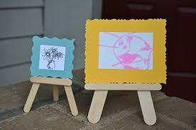 DIY Craft Stick Art Stand
