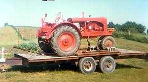Flatbed Trailer Used For Hauling Equipment Around The Farm