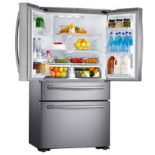 Samsung Cabinet Depth Refrigerator Dimensions by Samsung 36 Inch Stainless Steel 24 Cu Ft French Door Counter