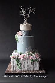 Rustic Floral Wedding Cake On Central