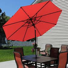 9 Ft Patio Umbrellas With Tilt by Sunnydaze Aluminum Patio Umbrella U2013 Tilt U0026 Crank U2013 9 U0027